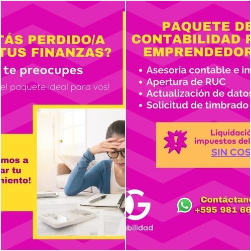 Paquete de contabilidad para emprendedores