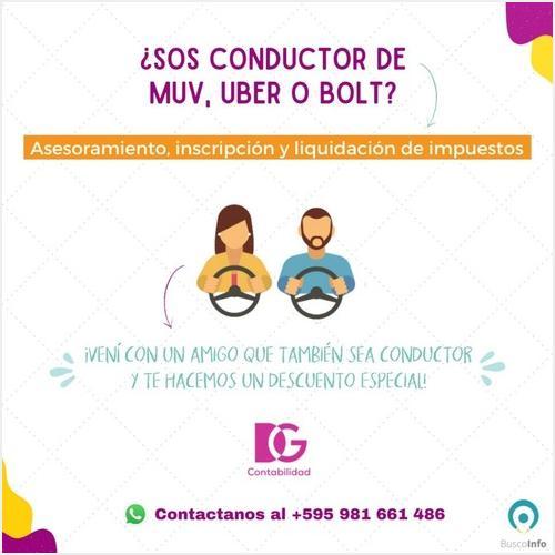 ¿Sos conductor de MUV UBER o BOLT?