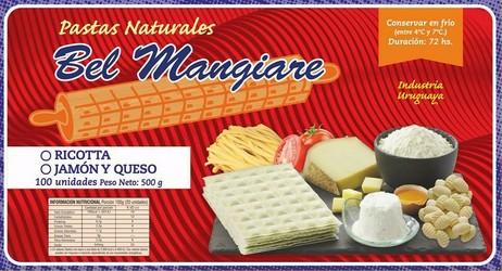 BEL MANGIARE Ravioles de Ricotta o Jamón y queso