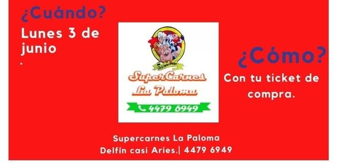 IMAGEN PROMOCION SORTEO SUPER CARNES LA PALOMA
